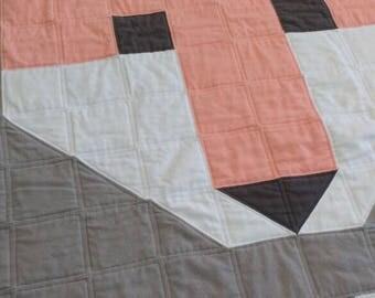 Girl's flannel fox quilt