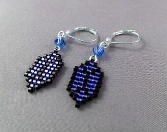 Blue Rupee Earrings - Legend of Zelda Earrings Geeky Earrings Nerdy Jewelry Video Game Earrings Pixel Earrings Zelda Earrings Pixel Studs