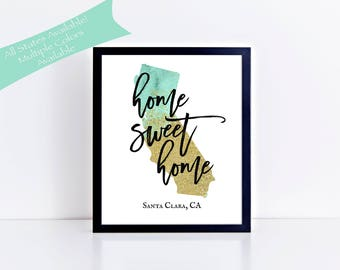 California Wall Art Personalized State Print Custom State Print California Sign CaliforniaPrint New Home Gift Housewarming Gift Wedding Gift