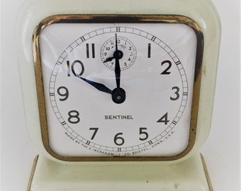 Vintage Art Deco Sentinel Alarm Clock