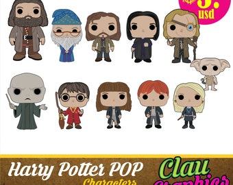 Harry Potter Cartoons, SVG patterns and png images, perfect for papercraft projects, clipart, stickers, t shirts, decals, everything