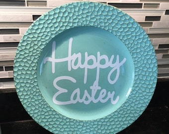 Happy Easter Charger plate