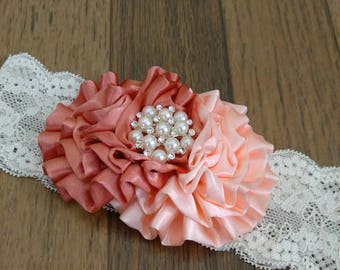 Gorgeous satin ruched bow headband