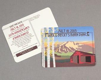 Colorado Barn Dance Save the Date Postcards - JA1