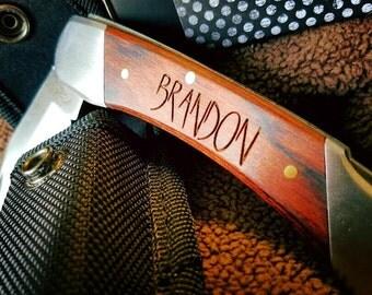 Custom Engraved Groomsmen Gift Pocket Knife, Groomsman Gift Personalized, For Him