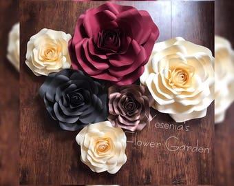 Paper Flower Roses backdrop