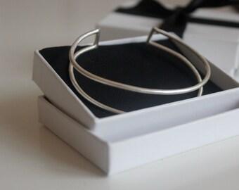 Silver Cuff Bracelet, Cuff Bangle, Simple Cuff Bangle, Open Bangle, Adjustable Bangle, Silver Bangle, Eco Silver, Silver Jewelry