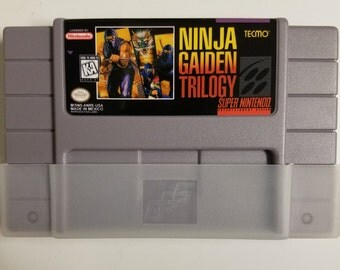 Ninja Gaiden Trilogy (SNES) Reproduction Cartridge w/ Dust Sleeve