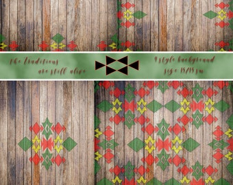 EMBROIDERY PAPERS,Folk Art Designs,red,green,rustic style,background,Digital Paper Pack,printable,Ethnic ,wooden embroidery,printable papers
