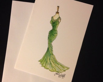 Green is Gorgeous / Green Gown Single Card