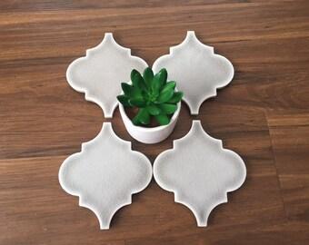 SALE /\ Four Mosaic Lantern Tile Coasters /\ Set of 4 /\ Porcelian Mosaic Coasters