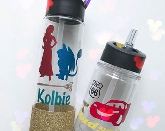 Personalized Water Bottles~ Disney~ Kids
