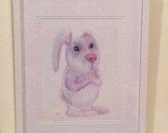 Baby Bunny Rabbit Original Drawing