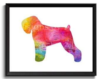 Russian Terrier art, Tchiorny terrier art, digital dog art, download terrier art, terrier artwork, terrier dog poster, terrier 8x10 SKU1027