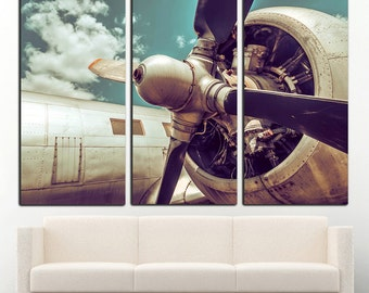 Vintage Airplane Wall Art aircraft engine vintage aircraft canvas art vintage airplane