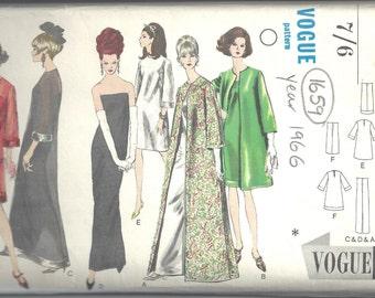 "1966 Vintage Vogue Sewing Pattern B38"" COAT & EVENING DRESS (1659R)"