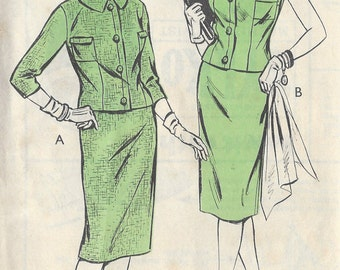 1960s Vintage Sewing Pattern B34 Summer/Spring  Suit-Skirt , Jacket , Top (R750)