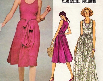 1976 Vintage VOGUE Sewing Pattern B36 DRESS (1689) By Carol Horn
