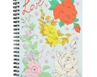 Love Roses A5 Spiral Notebook