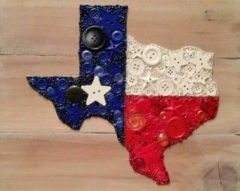 State of Texas in Buttons