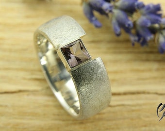 Ring Silver 925 / - with pink tourmaline