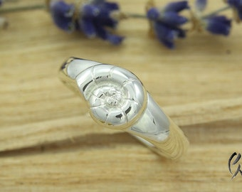 Ring Silver 925 / - with Ammonite