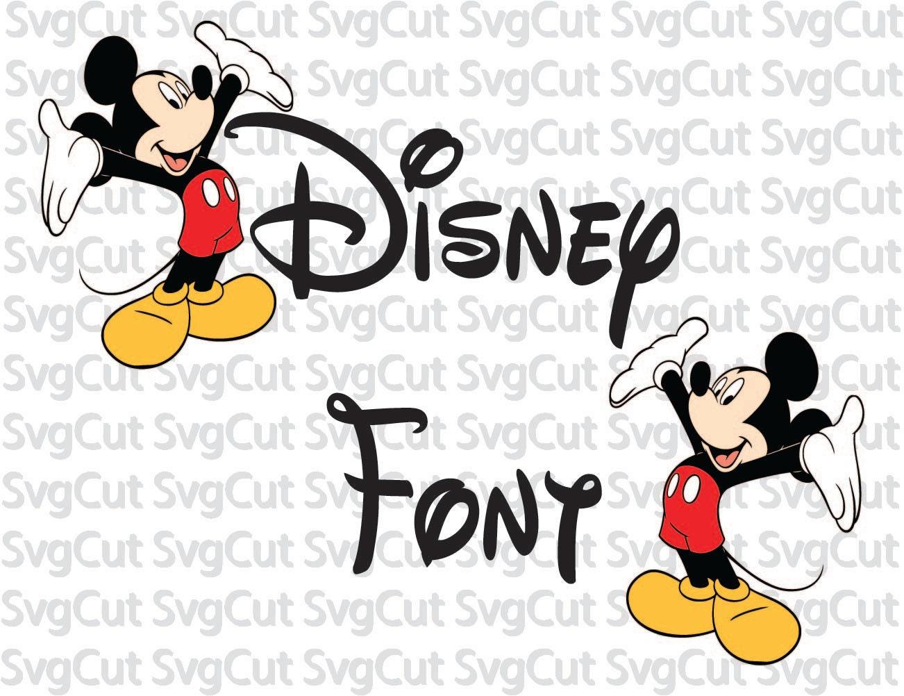 Disney Font SVG Disney Letters Alphabet DXF Disney Clipart