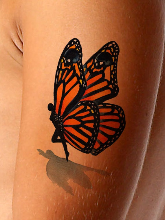 temporary tattoo 3d fairy butterfly tattoo with. Black Bedroom Furniture Sets. Home Design Ideas