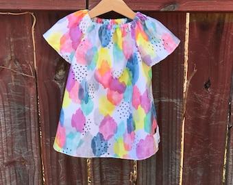 Watercolor Peasant Dress