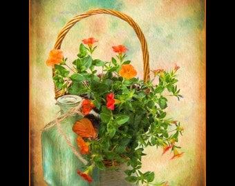 Contemporary Art Flower Still Life Painting, Flower Original Painting, Flower Still Life Art, Housewarming Gift, Floral Art