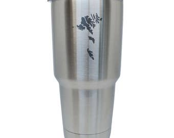 Faroe Islands Stainless Steel Tumbler, 30 Oz Insulated Tumbler, Laser Etched In Usa