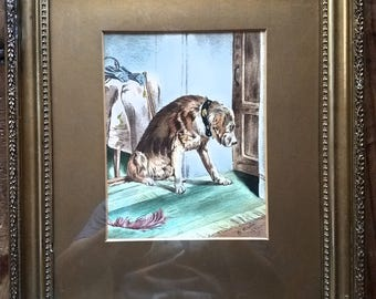 G. Hasler  Watercolor Painting Brown Labrador