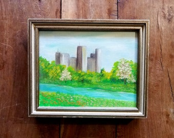 Castle Painting Oil in Canvas, castle painting, original art
