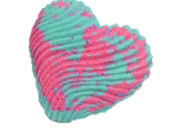Bubble Bar 4.5 oz Heart Shaped Scented w Birds of Paradise