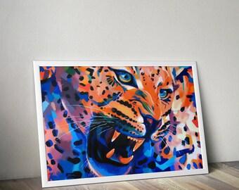 Leopard - Giclee print