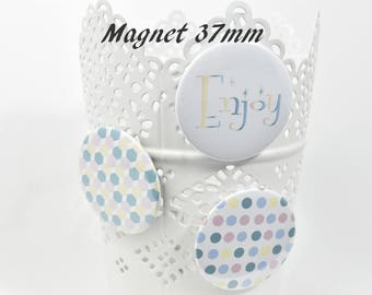 Set of 3 magnets enjoy Scandinavian 37 mm