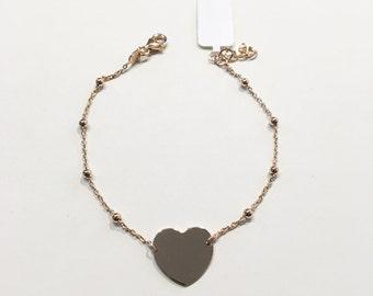Pinkish 925 Silver heart bracelet