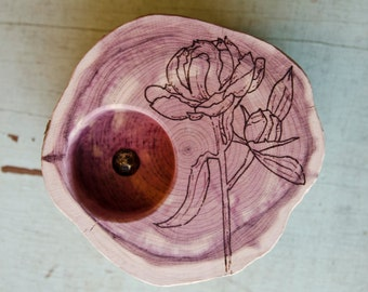 Jewelry Dish: Peony Flower
