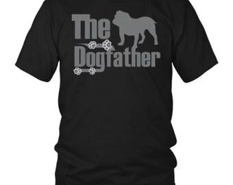 The Dogfather - English Bulldog - T Shirt - FREE SHIPPING Silver Writing Tshirt - England Bulldog Gift