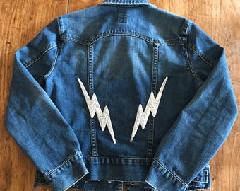 Sequin Lightning Bolt Patches
