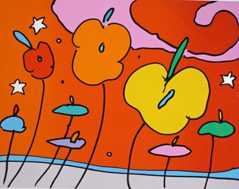 "Peter Max ""Night Flower"""