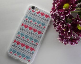 Case IPhone 6 (5/5S), Cross Stitch Case for IPhone 6/6 Plus, Cellphone Case, Finished Cross Stitch