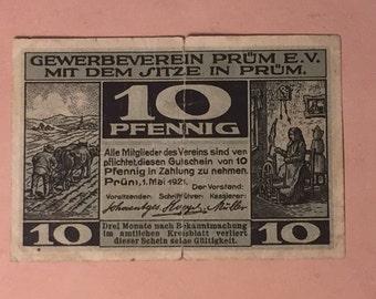 1921 German Pfennig Banknotes