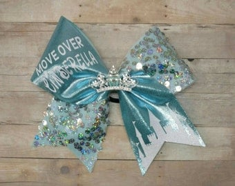 Disney cheer bow, Summit cheer bow, big cheer bow, worlds cheer bow, mickey cheer bow,  Disney hairbow, move over cinderella