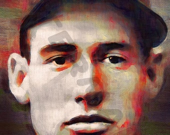 Ted Williams Art Print - Oil Painting Poster  LFF0196