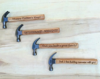 Personalized Engraved Hammer, Custom Wood Hammer, Groom Gift, Dad Gift, Groomsmen Gift, Grandfather Gift