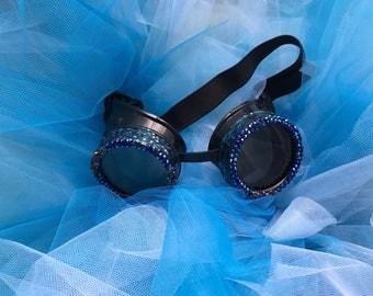 Galaxy goggles, steampunk goggles, burning man, goggles, festival, burning man goggles