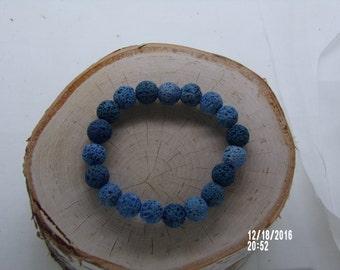 B1282 Blue Grey Stone Bracelet.