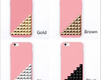 studded iPhone 7 case iPhone 7 plus case iPhone 6 plus case  iPhone 6/6s case iPhone SE case pink case