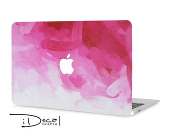 "Pink Paint macbook decal macbook skin macbook sticker Macbook Air 11, Macbook Air 13 & Mac Pro 13 Retina, Macbook 12"", Macbook Pro 15 Retina"